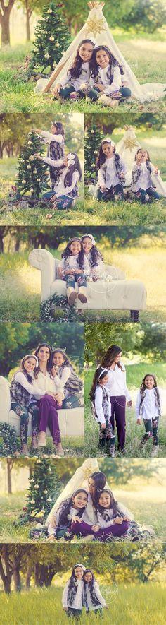 Christmas/Holidays Session with Lorenza & Valentina! | Bubble Stars Photography
