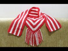 أسهل شال سكارف كروشيه للمبتدئين   كروشيه للمبتدئين How to crochet easy V scarf for beginners - YouTube