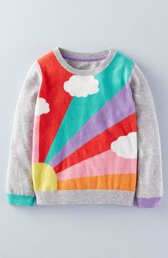 Mini Boden 'Fun' Intarsia Knit Sweater (Toddler Girls, Little Girls & Big Girls) available at #Nordstrom