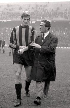 Giacinto Facchetti et Helenio Herrera (Inter Milan)