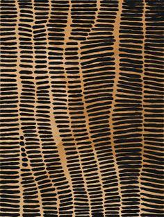 Lena Nyadbi, Jimbala Country (2001), natural earth pigments and synthetic binder on canvas