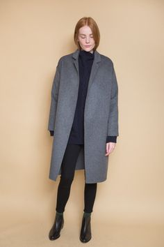 The Handmade Long Coat from Achro is the perfect throw on cold-weather  layer. An oversized fit with a slight cocoon silhouette, this elegant coat  looks ... 75f0ff055d