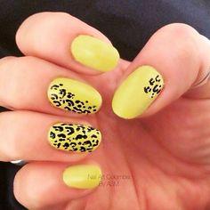 Animal print sobre amarillo biche !! Enamel, Nail Art, Nails, Yellow, Fingernail Designs, Colombia, Finger Nails, Ongles, Nail Arts