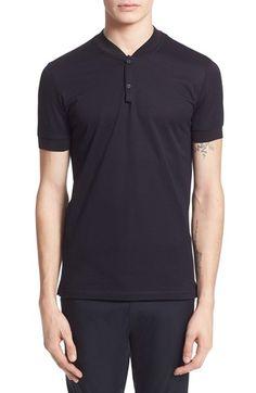 LANVIN Baseball Collar Cotton Piqué Polo. #lanvin #cloth #