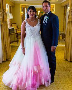 Inspire-se: vestidos de noiva com barra colorida