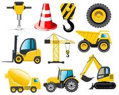 Дидактический материал для занятий с детьми - Строительные машины 2