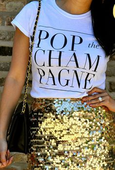 'Pop the Champagne' tee!
