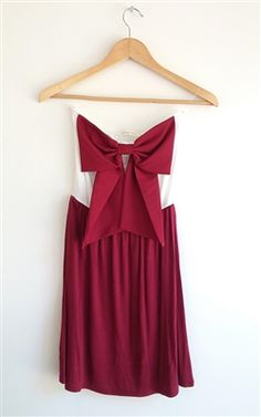 game day bow dress maroon and ivory www.shop-stellab.com