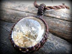 Garden Quartz Necklace / Dainty / Magical / April Birthstone / Earthy / Fairy Garden / Earthy jewelry / Fairy Jewelry / Quartz crystal on Etsy, $40.00