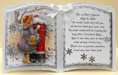 card making magic book card bookatrix card Fall Cards, Xmas Cards, Christmas Books, Christmas Crafts, Christmas Decorations, Beautiful Christmas Cards, Christian Cards, Card Book, Shaped Cards
