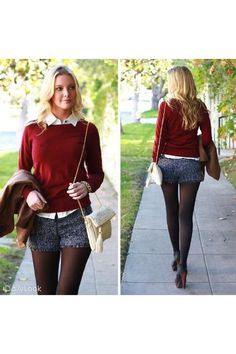 daily apparel... shorts and tights, my current obsession!!