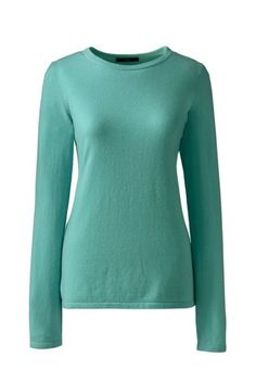 Women's+Cashmere+Crewneck+Sweater+from+Lands'+End