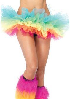 Regenboog Petticoat in regenboog kleuren van Leg Avenue voor gaypride