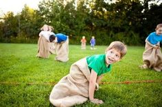 Potato sack race and more fun outdoor games for kids!