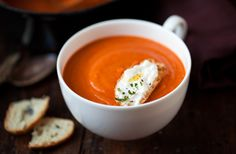 cream of roasted tomato soup   familystyle food