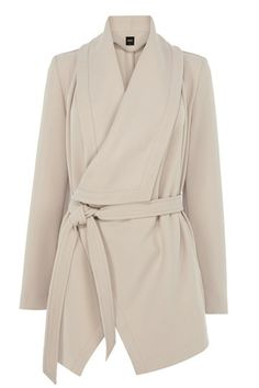 DRAPE FRONT COAT // Tips to Flatter Every Figure - Clementine Daily
