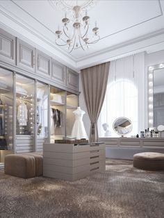 Design Your Dream House, House Design, Wardrobe Room, Luxury Closet, Closet Designs, Luxurious Bedrooms, Decor Interior Design, Home Decor Inspiration, Luxury Homes