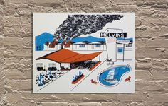 """'The Melvins 30th Anniversary' by Ryan Duggan of Drug Factory Press Hand screen printed poster 20""""x16"""" Edition of 85  http://www.galerief.com/portfolio-type/artist/drug-factory-press"""