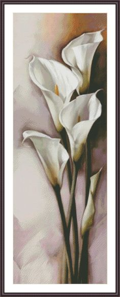Cross Stitch Pattern White Calla Flower by ZAnnaCrossStitch. Great site with lots of amazing patterns.