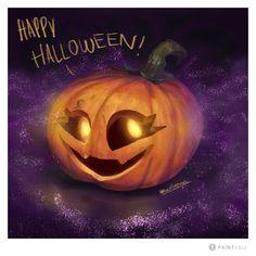 #PaintablePumkin Pumpkin Carving, Happy Halloween, Challenge, Digital, Art, Illustrations, Drawings, Art Background, Kunst
