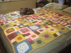 Pattern is Garden Granny, free on Lion Brand website