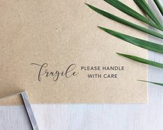 Fragile Stamp (Long)   Handle With Care Stamp - Packaging Stamp - Small Business - Gift for Crafter