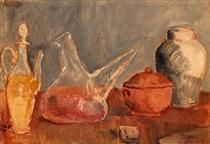 Still life with vases - Pablo Picasso