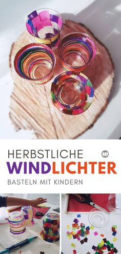 bunte herbst windlichter basteln aus alten glasern upcycling delivers online tools that help you to stay in control of your personal information and protect your online privacy. Upcycled Crafts, Diy Crafts To Do, Fall Crafts For Kids, Diy For Kids, Tetra Pack, Valentines Day For Him, How To Make Lanterns, Tea Lights, Easy Diy