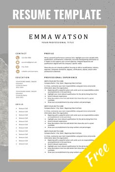 Free Simple Resume Templates – TOP 5 Habit Building Tips Resume Writing Tips, Resume Skills, Resume Tips, Basic Resume, Resume Ideas, Simple Resume Template, Job Resume Template, Resume Template Download, Cv Template