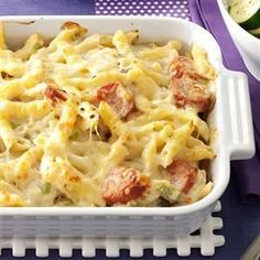 Polish Casserole Recipe (Without sauerkraut?) -When I first made this dish, my liked it so much that he wanted it for every meal! You can use most any pasta that will hold the sauce. Pasta Dishes, Food Dishes, Main Dishes, Casserole Dishes, Casserole Recipes, Sausage Casserole, Pasta Casserole, Appetizer Recipes, Dinner Recipes