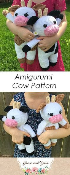 Amigurumi Cow Pattern - A Free Tutorial