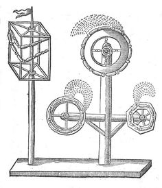 """John Bate, """"How to make Gironells, or fire wheeles"""", From The Mysteries of Nature and Art, 1634"""