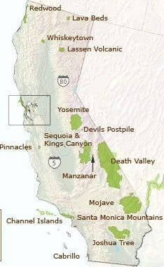 Camping National Parks in California ...