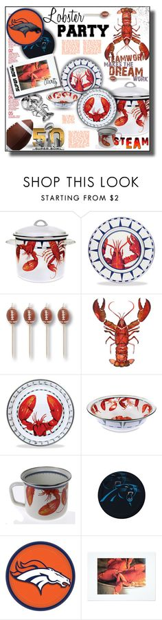 """""""Game On! Super Bowl Party"""" by rosie305 ❤ liked on Polyvore featuring interior, interiors, interior design, home, home decor, interior decorating, Thos. Baker, Next Innovations, Wilton Armetale and SuperBowlParty"""