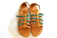 CARINO Sandals / Womens leather flats Sizes 3543 by BaliELF, 80.00