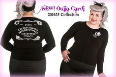 Ouija Cardigan by Hell Bunny. Plus Sizes - 2x, 3x and 4x.  Imported from the UK we are in-love with all things by Hell Bunny.  This cardi is one soft, stretchy plus size one that will pair up with any of your fall winter items.  Available on www.SweetEchoPlus.com