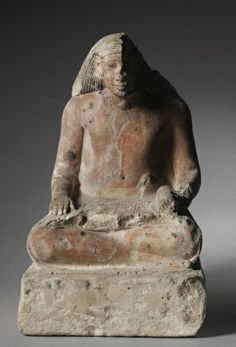 ART OF THE DAY: Seated Scribe of Medthuc. 1479-1425 BC Egypt, New Kingdom, Dynasty 18 (1540-1296 BC), reign of Tutmosis III