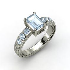 Emerald-Cut #Aquamarine Ring