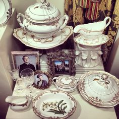 Stafford White Dinnerware by Portmeirion featured on Downton Abbey
