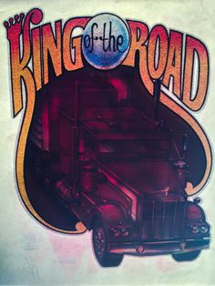 King of the Road Semi-Truck Vintage Roach Incorporated Glitter Iron On Heat Transfer by VintageIronOn on Etsy