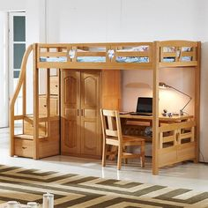 Ideas For Bedroom Wardrobe Bed Desks Small Room Bedroom, Bedroom Loft, Small Rooms, Home Decor Bedroom, Boys Bedroom Furniture, Loft Bed Plans, Loft Bunk Beds, Deco Studio, Bunk Bed Designs