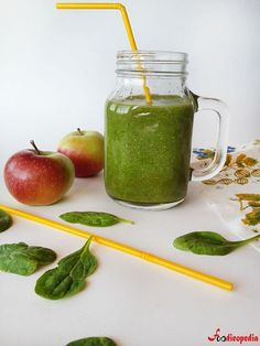 Healthy Juices, Moscow Mule Mugs, Smoothie Recipes, New Recipes, Mason Jars, Food And Drink, Health Fitness, Banana, Vegan