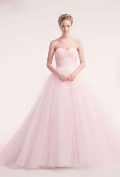 pink wedding gown