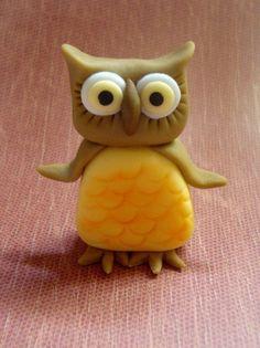 Owl Fondant Cake Topper
