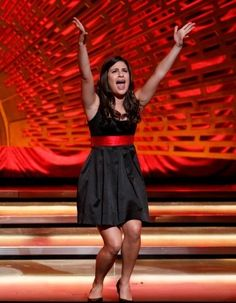Lea Michele/Rachel Berry singing Don't Rain On My Parade at Sectionals in Glee