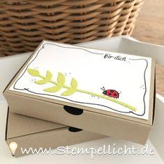 Diamantbox, Box ohne Kleben, Teebeutelbuch mit Stampin´Up
