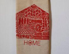 Handprinted Home Goods by JeanneMcGeeArt on Etsy