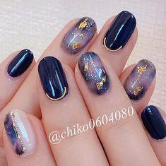 Fancy Nails Designs, Cute Nail Art Designs, Nail Polish Designs, Japanese Nail Design, Japanese Nails, Nail Manicure, Gel Nails, Art Deco Nails, Asian Nails