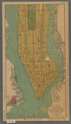 New Map of the Borough of Manhattan, City of New York 1898