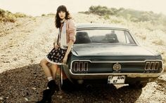 Vintage Mustang Girl
